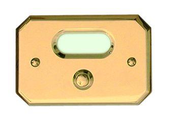 Klingelplatte aus Messing C.P.T. beschichtet Modell III