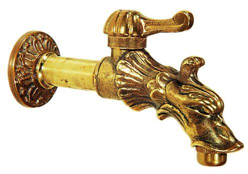 Wasserhahn Drachenspeier aus Messing