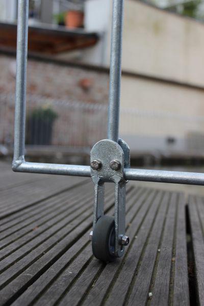 Bodenrolle für die Tür Vienna Eisen feuerverzinkt