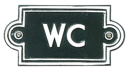 WC-Schild aus Aluminiumguss
