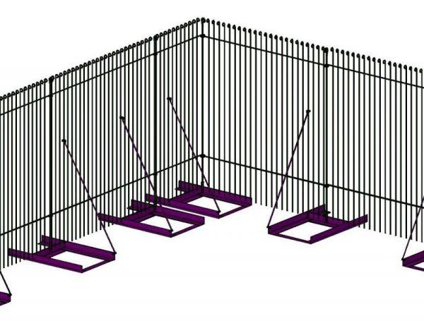 Bodenständer mit Diagonalstreben ohne eingelegten Steinplatten