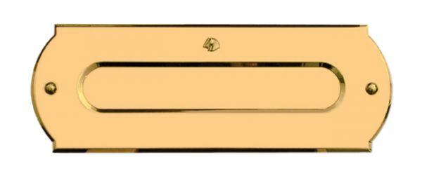 Einwurfplatte Triest aus Messing C.P.T. beschichtet