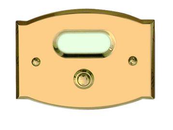 Klingelplatte aus Messing C.P.T. beschichtet Modell II