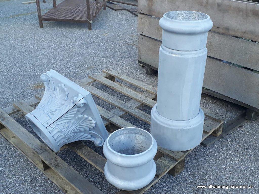Säulenverkleidungen - Rohraufschubteile Aluminiumguss