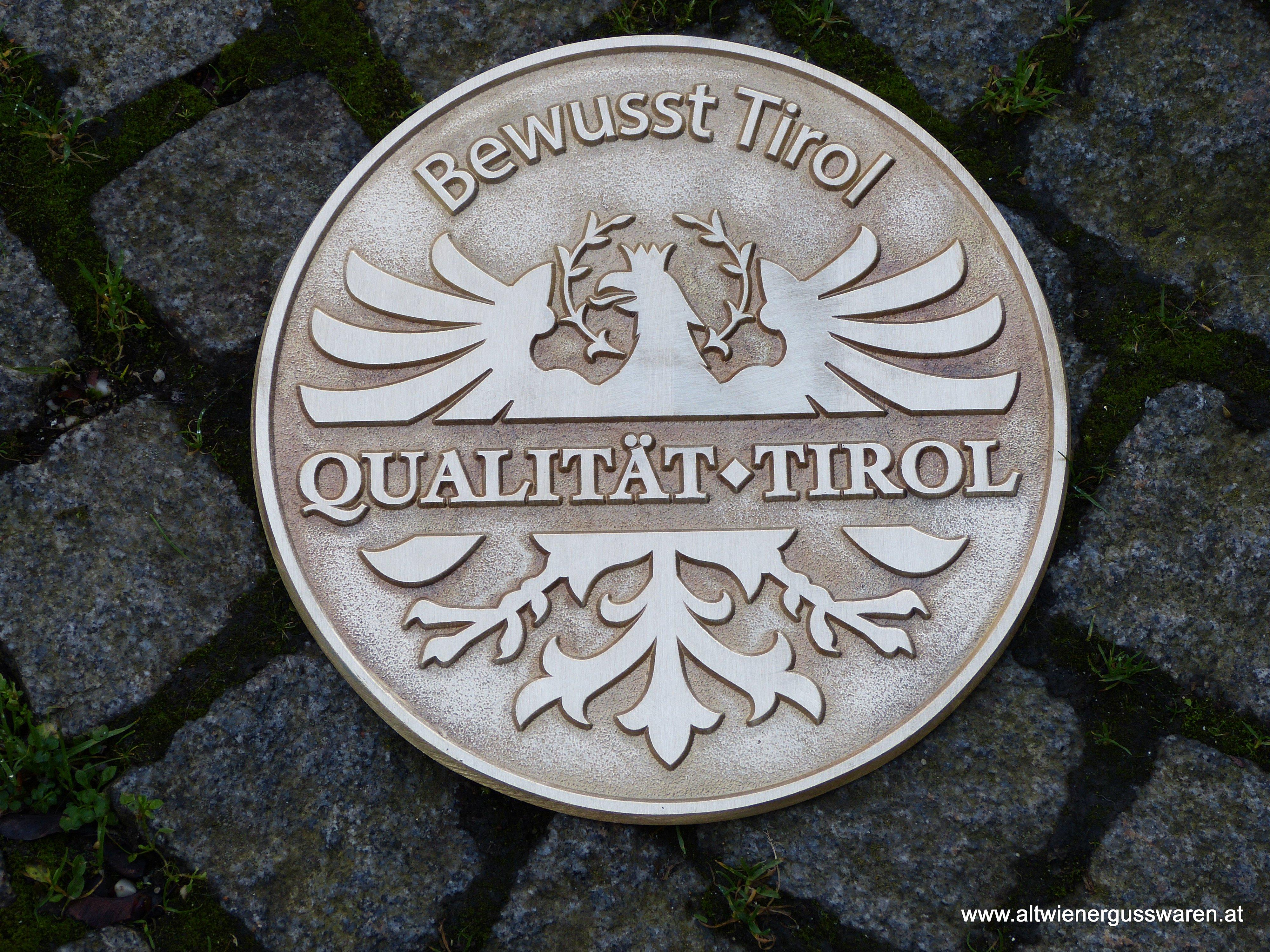 """Messinggussmedaille """"Bewusst Tirol"""" - Münze Österreich"""